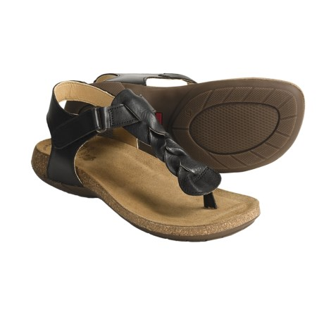 Pikolinos Campello Leather Sandals (For Women) in Black