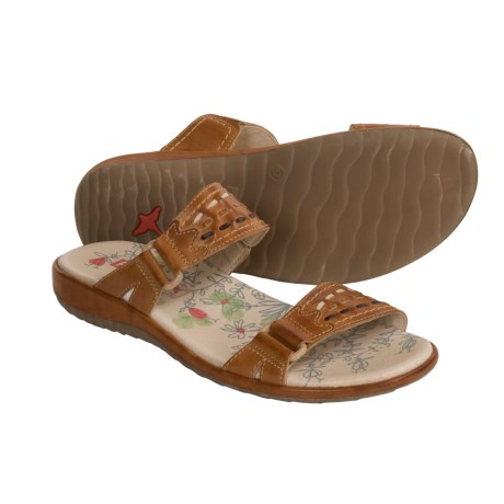 Pikolinos Costa Rica Sandals - Leather Slides (For Women) in Brandy