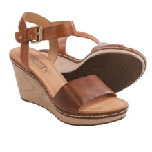 Pikolinos Creta Wedge Leather Sandals (For Women) in Cuero - Closeouts