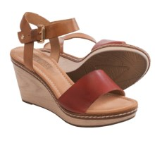 Pikolinos Creta Wedge Leather Sandals (For Women) in Sandia - Closeouts