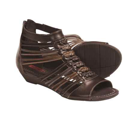 Pikolinos Formentera Gladiator Sandals - Leather (For Women) in Dark Brown/Stone - Closeouts