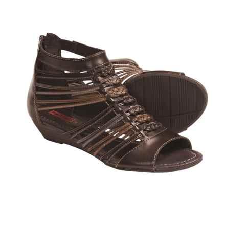 Pikolinos Formentera Gladiator Sandals - Leather (For Women) in Dark Brown/Stone - Closeouts