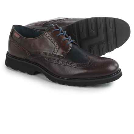 Pikolinos Glasgow Wingtip Derby Shoes - Leather (For Men) in Garnet - Closeouts