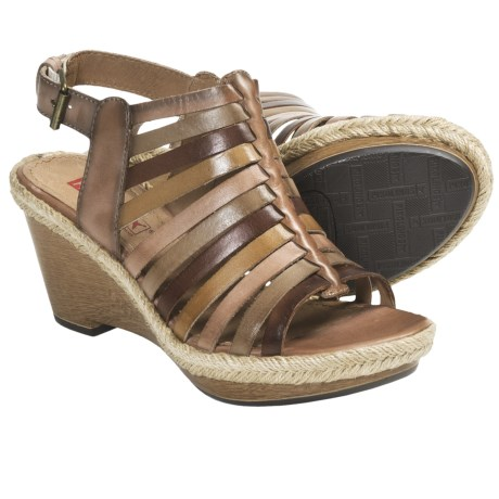 Pikolinos Gomera Wedge Sandals - Leather (For Women) in Light Pink