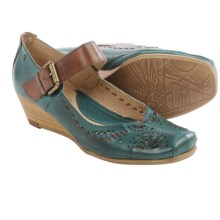 Pikolinos La Palma Mary Jane Shoes - Leather, Wedge Heel (For Women) in Petrol - Closeouts
