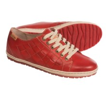 Pikolinos Lagos Leather Shoes (For Women) in Carmin - Closeouts