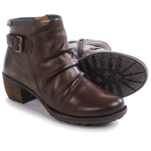 Pikolinos Le Mans Side Zip Ankle Boots - Leather (For Women) in Olmo - Closeouts