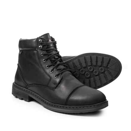 Pikolinos Made in Spain Caceres Cap-Toe Boots - Leather (For Men) in Black - Closeouts