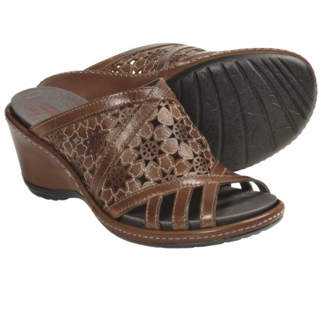 Pikolinos Malta Sandals - Wedge (For Women) in Brandy