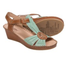 Pikolinos Margarita Sandals - Leather, Wedge Heel (For Women) in Aguamarina - Closeouts
