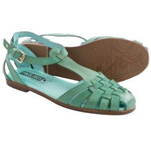 Pikolinos Menorca 7517 Leather Sandals (For Women) in Turquoise - Closeouts