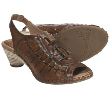 Pikolinos Paris Lace-Up Sandals - Sling-Backs (For Women) in Brandy - Closeouts