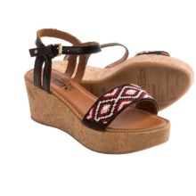 Pikolinos Punta Cana Wedge Sandals (For Women) in Black - Closeouts