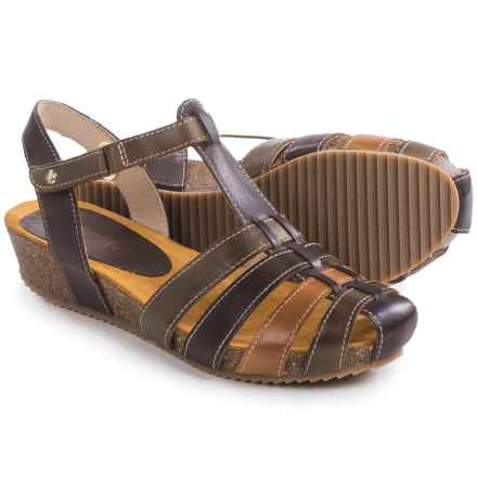 Pikolinos Rennes Wedge Sandals - Leather (For Women) in Olmo - Closeouts