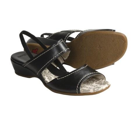 Pikolinos Thailandia Leather Sandals - Sling-Backs (For Women) in Black