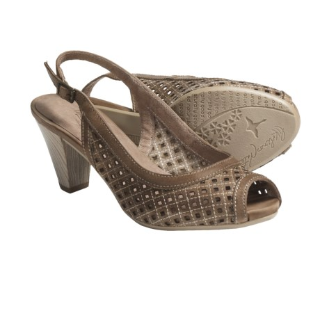 Pikolinos Vic Sling-Back Sandals - Peep Toe (For Women) in Light Brown