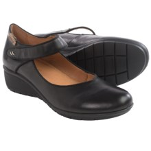 Pikolinos Victoriaville Mary Jane Shoes - Leather, Wedge Heel (For Women) in Black - Closeouts