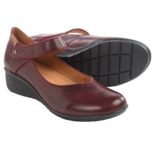 Pikolinos Victoriaville Mary Jane Shoes - Leather, Wedge Heel (For Women) in Garnet - Closeouts