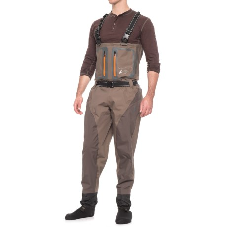 Pilot II Breathable Stockingfoot Chest Waders - Waterproof (For Men) - STONE/TAUPE (2XL )