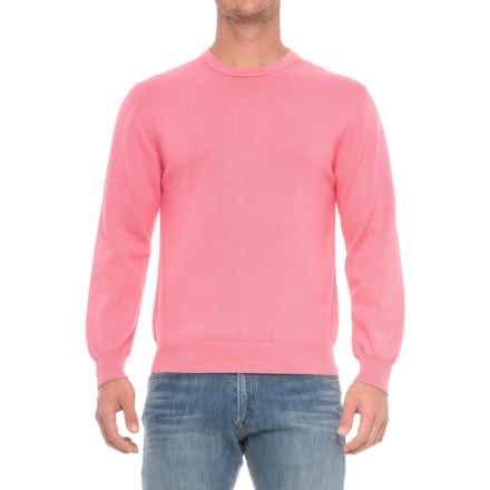 Pima Cotton Crew Neck Sweater (For Men) in Carnation - Closeouts