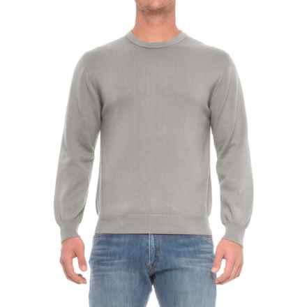 Pima Cotton Crew Neck Sweater (For Men) in Kiwi - Closeouts