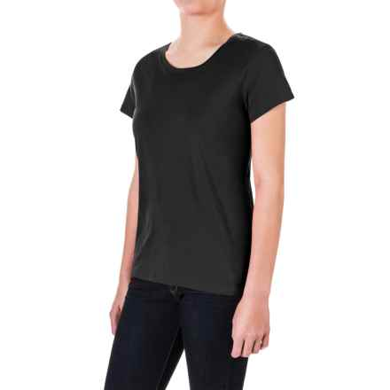 Pima Cotton Essential Crew Shirt - Short Sleeve (For Women) in Black - 2nds