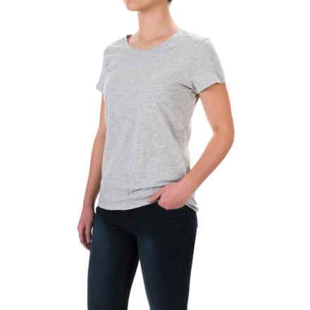Pima Cotton Essential Crew Shirt - Short Sleeve (For Women) in Grey - 2nds