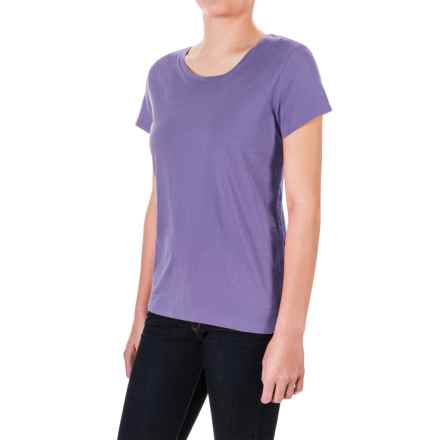 Pima Cotton Essential Crew Shirt - Short Sleeve (For Women) in Purple - 2nds
