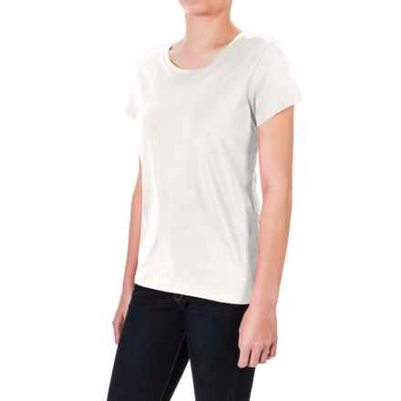 Pima Cotton Essential Crew Shirt - Short Sleeve (For Women) in White - 2nds