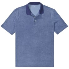 Pima Cotton Jacquard Polo Shirt - Short Sleeve (For Men) in Tide Blue - 2nds