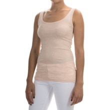 Pima Cotton-Modal Stretch Tank Top (For Women) in Blush Heather - 2nds