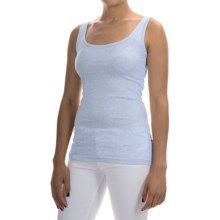 Pima Cotton-Modal Stretch Tank Top (For Women) in Medium Blue Heather - 2nds