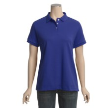 Pima Cotton Polo Shirt - Short Sleeve (For Women) in Royal - 2nds