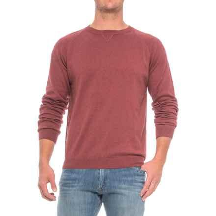 Pima Cotton Raglan Sweater (For Men) in Garnet - Closeouts