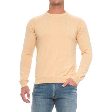 Pima Cotton Raglan Sweater (For Men) in Mellowyellow - Closeouts