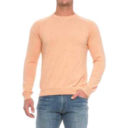 Pima Cotton Raglan Sweater (For Men) in Orangeade - Closeouts