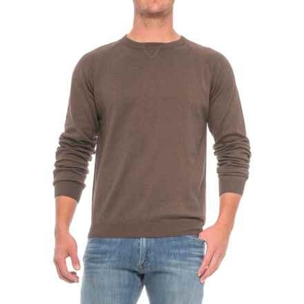 Pima Cotton Raglan Sweater (For Men) in Peat - Closeouts