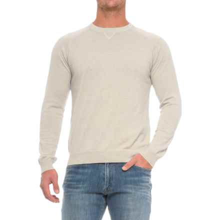 Pima Cotton Raglan Sweater (For Men) in Silver Spray - Closeouts