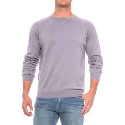 Pima Cotton Raglan Sweater (For Men) in Thistledown - Closeouts