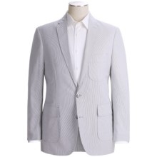 Pincord Sportcoat - Cotton Dobby (For Men) in Grey/White - 2nds