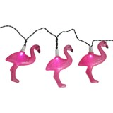 Pine Top Solar Flamingo String Lights