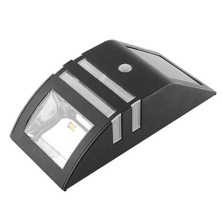 Pine Top Solar Motion Detecting Wall Light in Black - Overstock