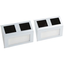 Pine Top Solar Stair Lights - Rectangle, Set of 2 in White - Closeouts