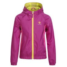 Pink Platinum Color-Block Active Jacket (For Little Girls) in Beet - Closeouts