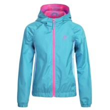 Pink Platinum Color-Block Active Jacket (For Little Girls) in Turquiose - Closeouts
