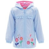 Pink Platinum Garden Windbreaker Jacket - Hooded (For Toddler Girls)