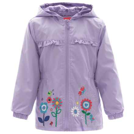 Pink Platinum Garden Windbreaker Jacket - Hooded (For Toddler Girls) in Lilac - Closeouts