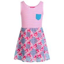 Pink Platinum Jersey and Chiffon Dress - Sleeveless (For Big Girls) in Fuchsia - Closeouts