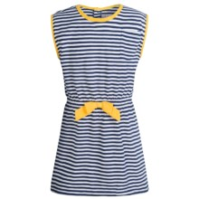 Pink Platinum Jersey Swimsuit Cover-Up Dress - Short Sleeve (For Big Girls) in Navy - Closeouts