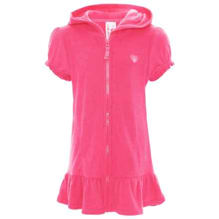 Pink Platinum Terry Cover-Up Hoodie (For Big Girls) in Knockout Pink - Closeouts